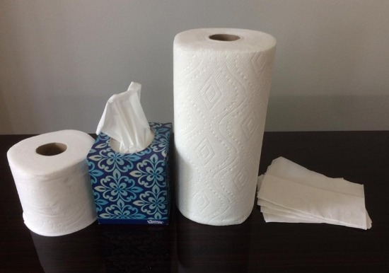 tissue and paper towels should not be flushed